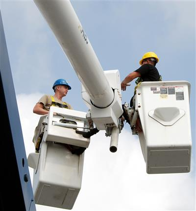 Installation and Repair at All Heights with a Bucket Truck
